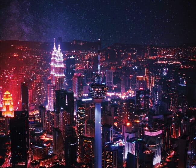 Petronas Twin Tower Night View